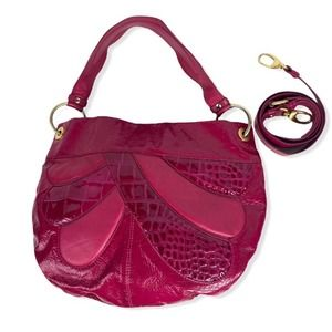 Cynthia Rowley 80s style patchwork hobo